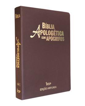 Bíblia Apologética Com Apócrifos | RC | Letra Grande | Luxo | Marrom