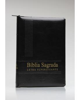Bíblia Sagrada | NAA | Letra Super Gigante | Luxo | Preta | Índice | Zíper