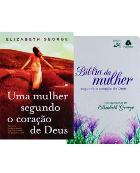 Kit Mulher de Fé   Mulher Segundo Coração de Deus + Bíblia da Mulher de Tulipa Roxa