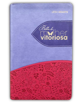 Bíblia da Mulher Vitoriosa | RC | Letra Gigante | Luxo | Lilas/Rosa
