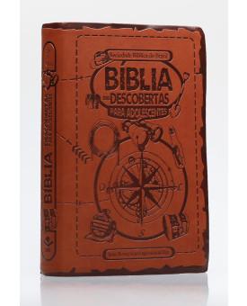 Bíblia Das Descobertas Para Adolescentes | NTLH | Letra Normal | Capa Sintética | Bússola