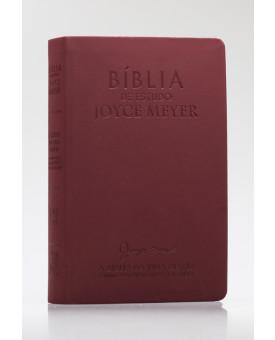 Bíblia de Estudo Joyce Meyer | NVI | Letra Média | Luxo | Bordo