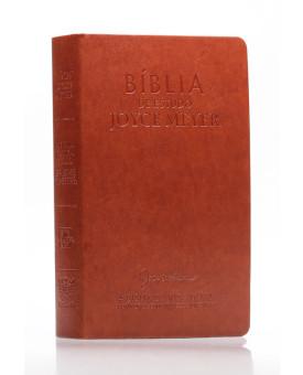 Bíblia de Estudo Joyce Meyer | NVI | Letra Grande | Luxo | Marrom