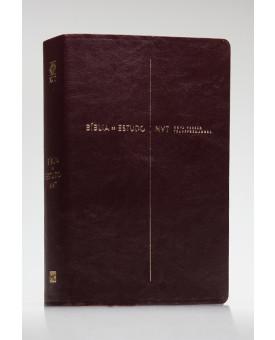 Bíblia de Estudo | NVT | Letra Grande | Luxo | Vinho