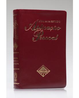 Bíblia de Estudo Aplicação Pessoal | RC | Letra Normal | Luxo | Vinho
