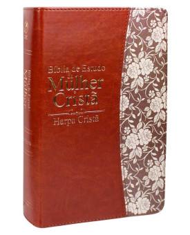 Bíblia de Estudo da Mulher Cristã | RC | Harpa Cristã | Capa Sintética | Marrom