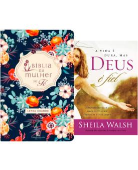 Bíblia de Estudo da Mulher de Fé Florida + Livro A Vida é Dura, mas Deus é Fiel