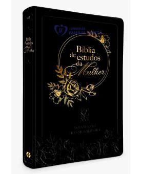 Bíblia de Estudo da Mulher | NVT | Letra Grande | Luxo | Preta