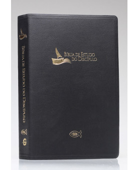 Bíblia de Estudo do Discípulo | RA | Letra Grande | Luxo | Preta