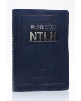 Bíblia de Estudo | NTLH | Letra Grande | Luxo | Azul