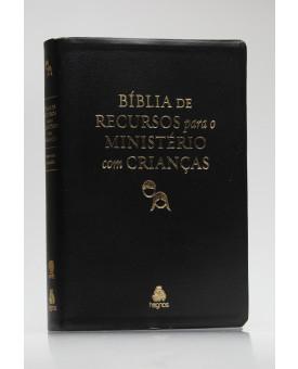 Bíblia De Recursos Para O Ministério Com Crianças | RA | Letra Normal | Luxo | Preta