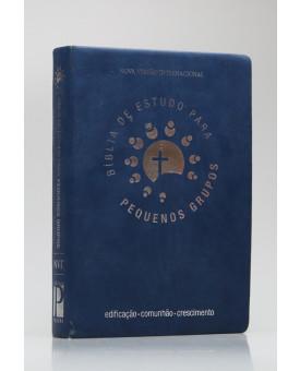 Bíblia de Estudo Para Pequenos Grupos | NVI | Letra Grande | Luxo | Azul