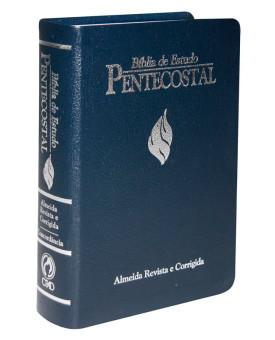 Bíblia de Estudo Pentecostal | RC | Letra Normal | Luxo | Azul