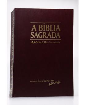 Bíblia Sagrada de Púlpito | ACF | Letra Extragigante | Capa Dura | Marrom | Tamanho Gigante
