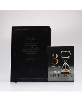 Kit Bíblia de Estudo NVT Charles H. Spurgeon + Devocional 3 Minutos com Charles H. Spurgeon | Tempo com Deus