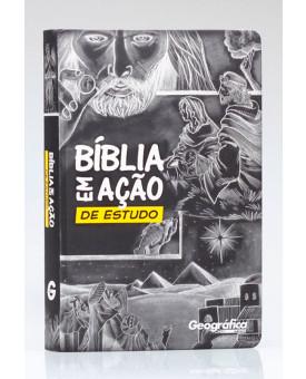Bíblia em Ação de Estudo | AEC | Letra Normal | Soft Touch | Preta e Amarela