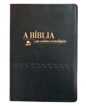 Bíblia em Ordem Cronológica | NVI | Letra Média | Luxo | Preta