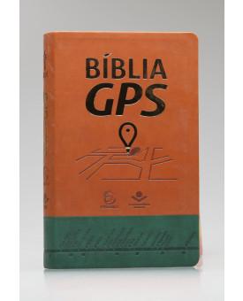 Bíblia GPS | NTLH | Letra Normal | Capa Sintética | Marrom Claro e Verde