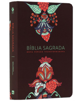 Bíblia Sagrada | NVT | Letra Grande | Soft Touch | Indian Flowers Vinho