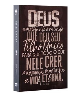 Bíblia Sagrada | NVT | Letra Normal | Capa Dura | João 3.16 Chumbo