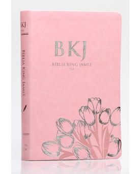 Bíblia Sagrada | King James Fiel 1611 | Letra Normal | Luxo | Rosa