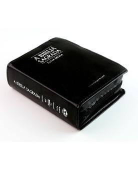 A Bíblia Sagrada | ACF | Letra Média | Luxo | Pequena | Zíper | Preta