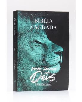 Bíblia Sagrada Minha Jornada com Deus Com Devocionais | NVI | Letra Normal | Semi-flexível | Leão Azul
