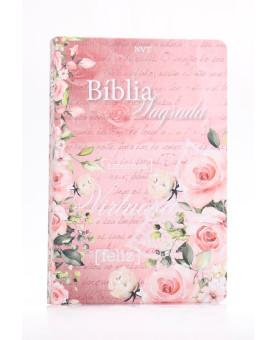 Bíblia Sagrada Mulher Virtuosa | NVT | Letra Normal | Soft Touch | Rosa