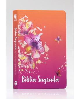 Bíblia Sagrada | NVT | Letra Grande | Capa Dura | Borboletas
