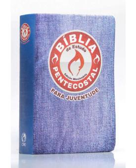 Bíblia de Estudo Pentecostal Para Juventude | RC | Letra Normal | Luxo | Azul