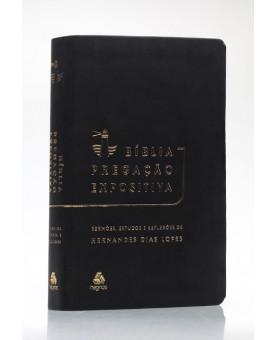Bíblia Pregação Expositiva | RA | Letra Normal | Luxo | Preto Black Piano