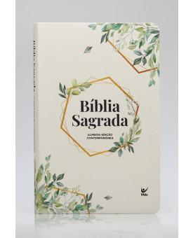 Bíblia Sagrada | AEC | Letra Normal | Semi-Luxo | Folhagem