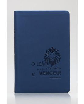 Bíblia Sagrada | AEC | Letra Normal | Capa PU | Azul Leão