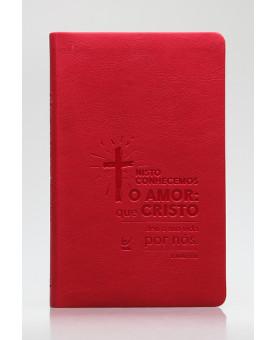 Bíblia Sagrada | AEC | Letra Normal | Capa PU | Vermelho Cruz