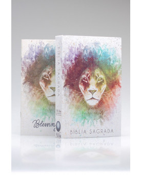 Bíblia Sagrada | King James Atualizada | Letra Grande | Leão | Aquarela | Brasil + Blessing Notes