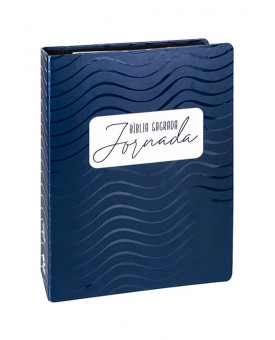 Bíblia Sagrada Jornada | NAA | Letra Grande | Capa Dura | Fichário Com Espiral | Azul Escuro | Com Espaço Para Anotações