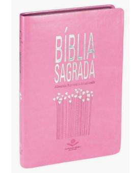 Bíblia Sagrada | RA | Slim | Capa Sintética | Rosa Nobre