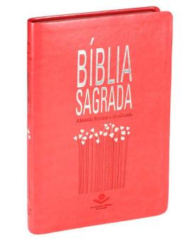 Bíblia Sagrada | RA | Letra Normal | Capa Sintética | Pêssego | Slim