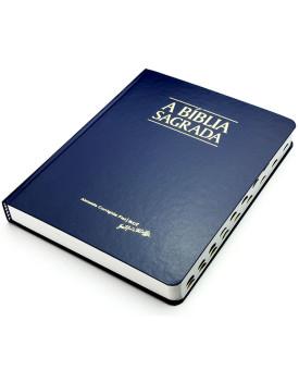 Bíblia Sagrada | ACF | Letra Média | Semi-Luxo | índice | Azul