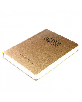 Bíblia Sagrada | ACF | Letra Grande | Fina | Semi-Luxo | Dourada