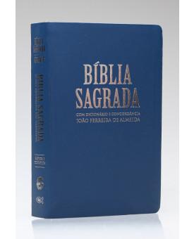 Bíblia Sagrada Com Dicionário e Concordância | RC | Letra Gigante | Luxo | Azul | Índice
