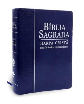 Bíblia Sagrada | RC | Harpa Cristã | Letra Grande | Luxo | Azul | Índice