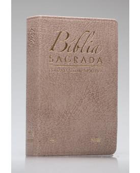Bíblia Sagrada Comparativa | RC/NVI | Letra Extra-Gigante | Luxo | Bege
