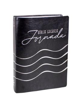 Bíblia Sagrada Jornada | NAA | Letra Grande | Capa Sintética | Preta | Com Espaço Para Anotações