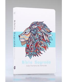 Bíblia Sagrada | RC | Letra Grande | Semi-Luxo | Azul Leão