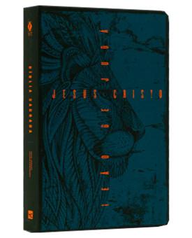 Bíblia Sagrada | NVT | Letra Normal | Soft Touch | Leão de Judá Azul