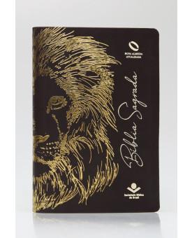 Bíblia Sagrada | NAA | Letra Grande | Capa Sintética | Leão Marrom