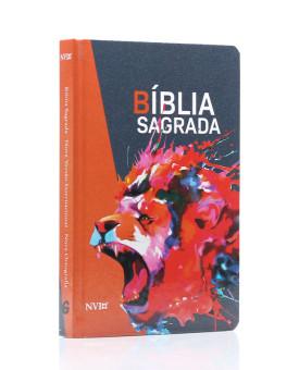 Bíblia Sagradaa | NVI | Letra Normal | Capa Dura | Leão Rugindo