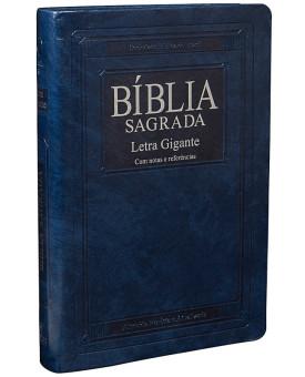 Bíblia Sagrada | RA | Letra Gigante | Couro Sintético | Azul Nobre | índice