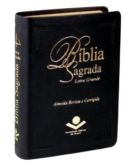 Bíblia Sagrada | RC | Letra Grande | Pequena | Couro Sintético | Preta